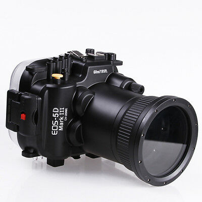 60M Waterproof Diving Housing Case for Canon EOS 5D Mark III 3 5D3 24-105mm Lens