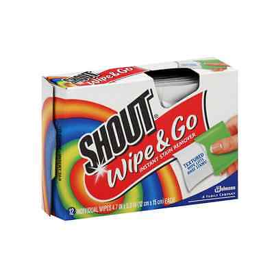 Shout Wipe - Go Instant Stain Remover Wipes 12 ea