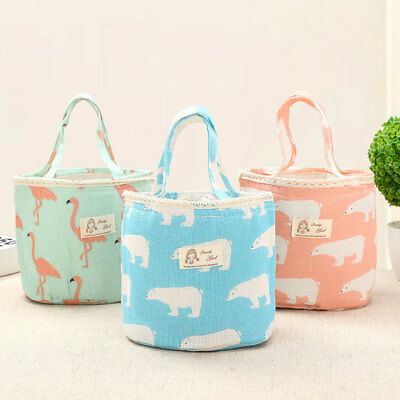 Cartoon Portable Insulated Thermal Cooler Lunch Box Carry Tote Storage Bag Case