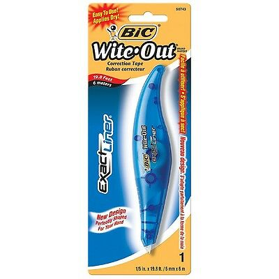 """Bic Wite-Out Exact Liner Correction Tape,1/5"""" x 236"""", 1 ea (Pack of 3)"""