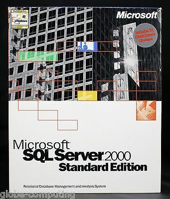Microsoft SQL Server 2000 Standard Edition inc 10 CAL Database 228-00691