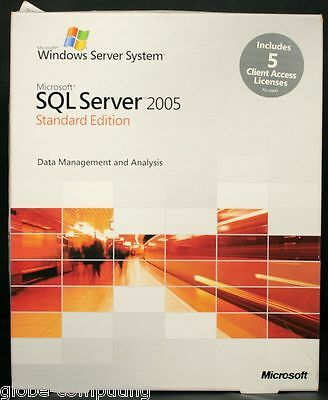 Microsoft SQL Server 2005 Standard Edition x86 inc 5 CAL 228-04023