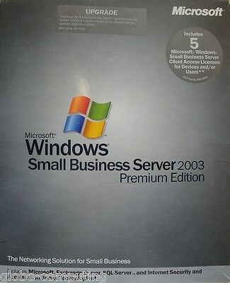 Microsoft Windows Kleiner Geschäft Server SBS 2003 Premium upgrade T75-00750