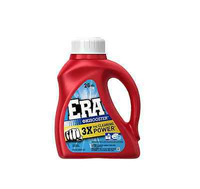 Era 2X Ultra Liquid Detergent, 26 Loads, Oxi Booster 50 oz (Pack of 5)