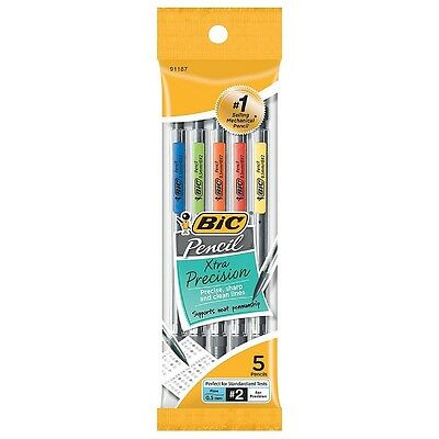 Bic Xtra Precision Fine Point Mechanical Pencils, 0.5mm 5 ea (Pack of 5)