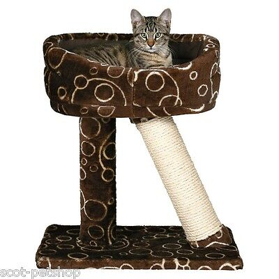 Cabra Cat And Kitten Scratching Post And Cat Bed Sisal Plush Brown