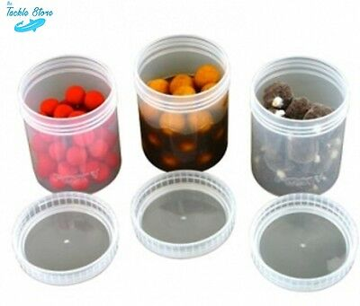 6 X Fox Glug Bait Pots For Glugging Boilies And Pellets Carp Fishing