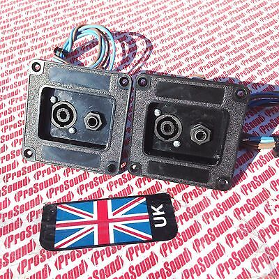 (pair) disco speaker Connector Dish with wired speakon and jack chassis