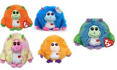 """Kids Soft Toy 8"""" TY Monstaz Collection Jerry Benny Chester Lola Rufus Xmas Gift"""
