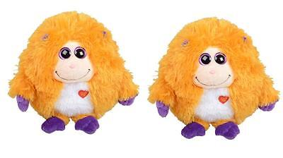 Set of 2 TY Mostaz Collect Mystery Message Rufus 506 Babies Kids Cuddly Soft Toy