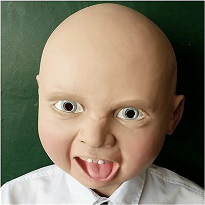 FAMI Latex Smile Baby Face Head Mask Party Halloween Masquerade Masks
