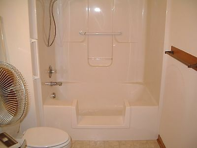 Walk-In Bath To Shower Step Thru Insert DIY Conversion Kit Senior
