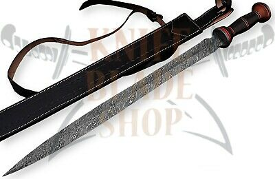 Damascus Sword,Custom Handmade ROMAN GLADIUS SWORD,ROSE WOOD & MICARTA HANDLE