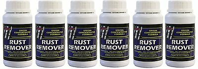 6x Rust Remover Concentrated Non-Harmful Makes up to 2.5 Ltr Car Bike Motorbike