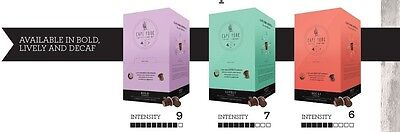 120 Cape York Coffee Pods Capsules to suit Nespresso. LIVELY & BOLD
