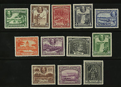 British Guiana  1934  Scott #  210-221  Mint Hinged Part Set