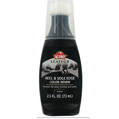 KIWI Heel/Sole Edge Color Black 2.5 oz (Pack of 6)