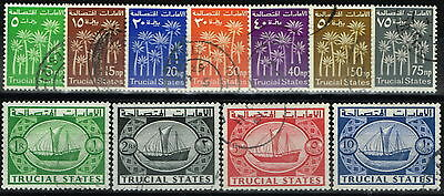 Trucial States 1961 set of 11 SG1-11 Superb Used