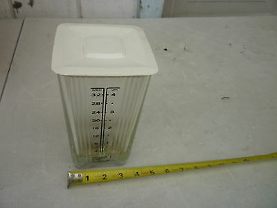 Vintage sunbeam mixmaster glass blender base with lid replacement part