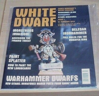 Games Workshop White Dwarf weekly magazine #1 1st FEB 2014 Warhammer 40,000 &