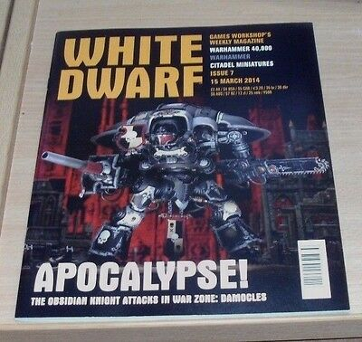 Games Workshop White Dwarf weekly magazine #7 15th MAR 2014 Warhammer 40,000 &