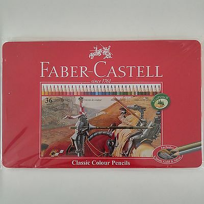 Faber-Castell Classic Colour Pencil 12 24 36 Colors Tin Case Drawing Painting