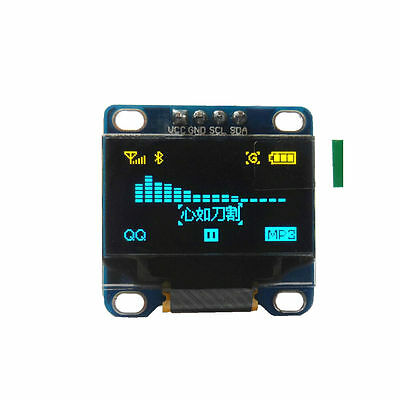 "0.96"" I2C IIC 128X64 LED OLED LCD Display Module Arduino Yellow - Blue SSD1306"