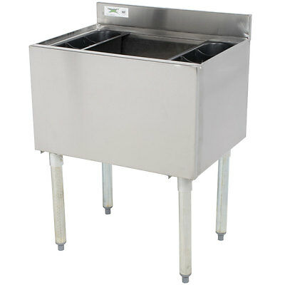 "Regency Underbar Stainless Steel NSF Ice Bin 18"" x 24"""