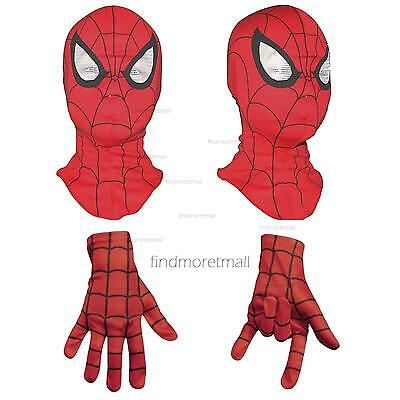 Adult Kids Cosplay Spider-Man Mask Glove Party Accessory Toy Fancy Dress Costume