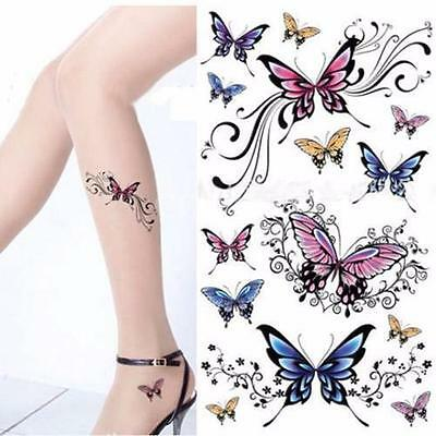 Sexy Removable Waterproof Temporary various Butterfly Tattoo Sticker Body Art