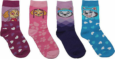Paw Patrol Girls Pups Pals Sky and Everest 4PK Socks Set By BestTrend