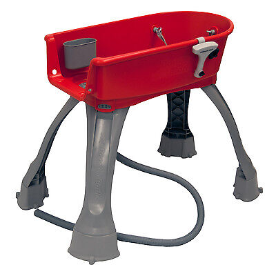 Large Portable Pet Bath Dog Grooming Supplies Equipment Station Washing Red