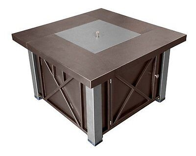 AZ Patio Heaters - CA Hiland Decorative Hammered Bronze Fire Pit with Stainless
