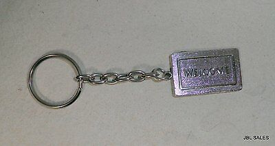 Authentic Tiffany & Co Sterling Silver Welcome Mat Key Ring