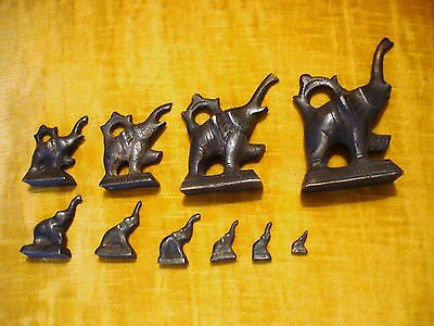 10 Trumpeting Elephant Opium Weights