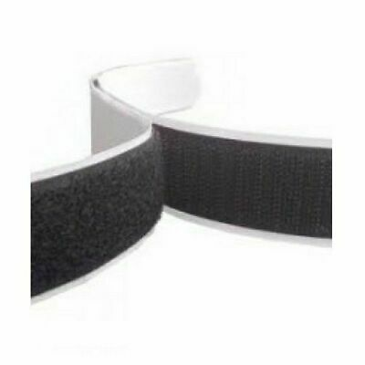 Self Adhesive Sticky Backed Hook and Loop Tape, Black or White