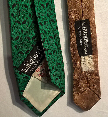Vintage Neckties - Lot of 2- Silk. Higbee Company of Cleveland, Ohio