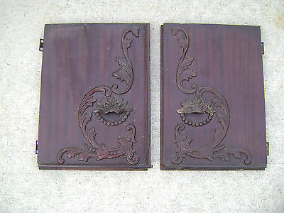 Parts for Singer Sewing Machine Drawing Room Cabinet - Mahogany - Top Doors