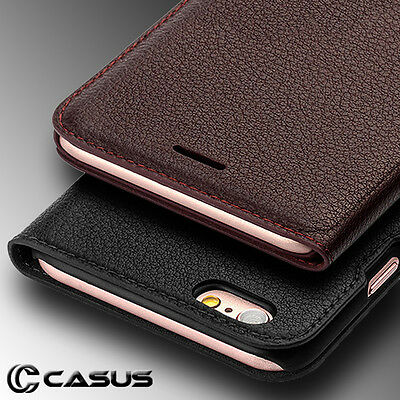 SLIM Genuine Leather Wallet Card Thin Case Cover for iPhone XS MAX XR X 8 7 Plus