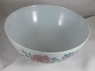 Antique Chinese Porcelain Gauranteed: Large Mid 19Th Century Famille Rose Bowl