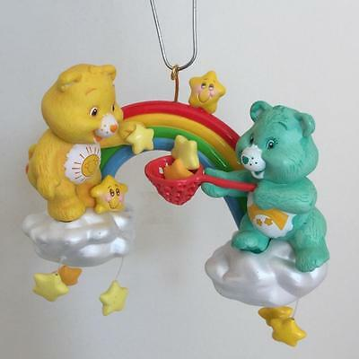 Care Bears Xmas Ornament Carlton Cards Funshine Wish Bear Rainbow Stars 2004