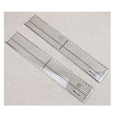 Quilting Sewing Patchwork Foot Aligned Ruler Grid Cutting Edge Tailor Craft #OP