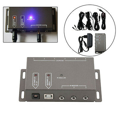 Infrared Remote Extender 6 Emitters 1 Receiver Hidden IR Repeater System Kit DC