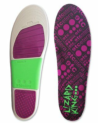 Etcetera Insoles Lizard King Pro Hi OSFM FREE POST New for Skateboard Bmx Shoes