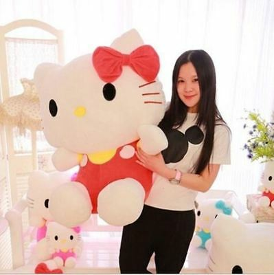 "New Cute Hello Kitty design doll cat plush toy birthday gift Size 8"" 17"" 24"""