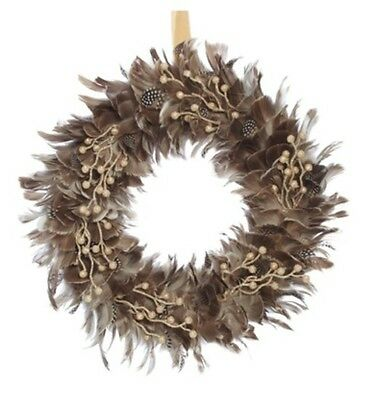NEW CHRISTMAS Feather grey wreath smlSwing