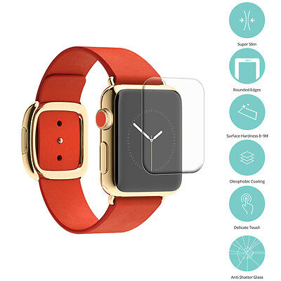 Real Premium Tempered Glass Screen Protector Film for Apple Watch 38mm