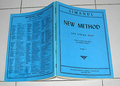SIMANDL NEW METHOD for String Bass Part 1 - Metodo Contrabbasso PERFETTO I