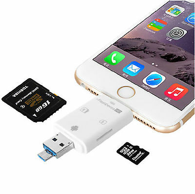 i-Flash Drive USB External TF/SD Card Reader for ISO iPhone 5G 6G plus 8pin