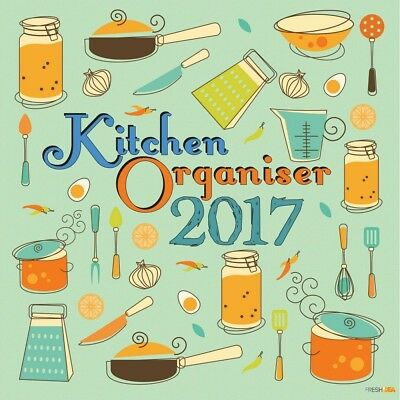 Kitchen Organiser - 2017 Wall Calendar 16 Months by The Gifted Stationery (F)